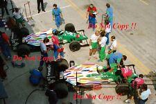 Teo Fabi & Gerhard Berger Benetton B186 Mexican Grand Prix 1986 Photograph