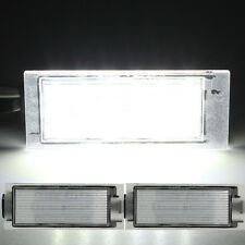 White LED Number License Plate Light For Renault Twingo lio Clio Megane Lagane