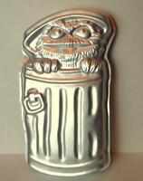 Sesame Street Oscar the Grouch Wilton Cake Pan Vintage 1977 502-7512