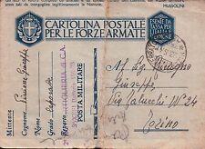 FRANCHIGIA DA CAPORALE 2° RGT ART. di C.A. BATTERIA 105/28 1941 NIZZA  C6-97