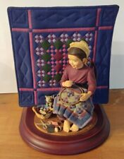 1993 The Amish Heritage Collection Katie's First Quilt Special Edition Figurine