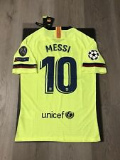 Leo Messi Soccer Jeesey Player Version Barcelona Away Small