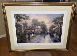 Carmel, Sunset on Ocean Avenue Signed Thomas Kinkade Framed Print (364/1700 G/P)