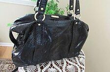 e87ef7caf77d22 Michael Kors Python Embossed Black Patent Leather large tote sachel Handbag