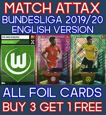 MATCH ATTAX BUNDESLIGA 19/20 ENGLISH EDITION - 100 CLUB - MAN OF THE MATCH CARDS