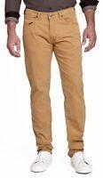 Lee Daren Zip Regular Fit Slim Beige Dijon Cords Stretch Corduroy Jeans Trousers