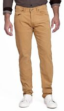 Lee Daren Zip Regular Fit Slim Beige Dijon Cords Stretch Corduroy Jeans Trousers