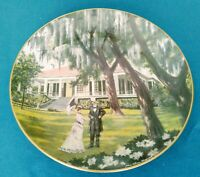 """GORHAM """"BEAUVOIR"""" Fine China Plate,1973, Limited American Commemorative Council"""