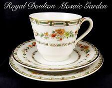 Royal Doulton Mosaic Garden TC1120 Bone China Trio