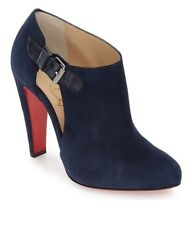 NIB CHRISTIAN LOUBOUTIN Seferme Cutout Bootie Navy Blue Booties 34 $995