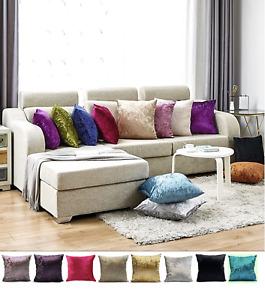 Crushed Velvet Cushion Cover, 45 x 45 cm