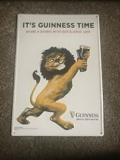 Guinness Beer Dancing Lion Embossed Tin Sign Game Room Man Cave Bar Pub New