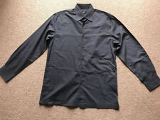 Wilson Shirt Grey Polyester Cotton Long Sleeve Size Small