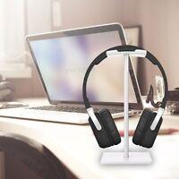Universal Aluminum Earphone Headset Hanger Holder Headphone Desk Display Stand E