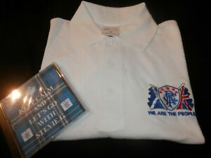 NEW ULSTER LOYALIST POLOSHIRT & CD ,GLASGOW RANGERS LEST WE FORGET SOMME L