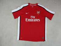 Nike Arsenal Soccer Jersey Adult Extra Large Red White Futbol DriFit Mens *
