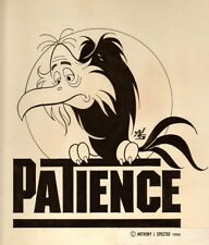 "Vulture Sitting on ""Patience"" Office Sign - 1990 art by Anthony Specter"