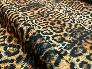 """14OZ Leopard Panther Animal Print Fabric Waterproof Outdoor 57"""" wide Canvas"""