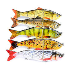 1Pc 12cm Multi Jointed Bass Striper Crappie Fishing Swimbait Lure Crankbait New