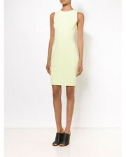 Narciso Rodriguez Scuba Dress Solid Fitted Citrine Jewel Neck Size 46 XL $1895