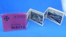 More details for rare vintage souvenir of malta fold out photo book valletta senglea castille 10