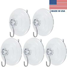 """Suction Cups with Metal Hook, ATUS - Clear, Large, 2.5"""" Diameter, 5-Pack"""