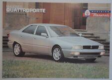 MASERATI QUATTROPORTE orig 1994 1995 UK Mkt Sales Leaflet Brochure in English