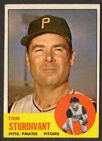 1963 Topps Baseball #281 Tom Sturdivant Pittsburgh Pirates - 3rd Series