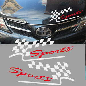 195 x 75 mm Sport lattice White Body Bumper Vinyl Sticker Racing Euro Vehicle