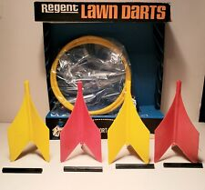 VINTAGE REGENT LAWN DARTS BOX, RINGS & FINS ONLY! NO POINTS!-NEW/OLD STOCK