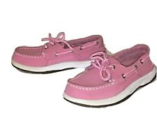 Sperry Top-Sider Pink Boat Shoes Intrepid Girl's 1M Loafer D-8 Ch208 Yg26471A