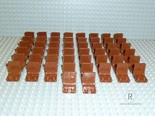 LEGO® 50 x Eisenbahn Sitz Autositz Stuhl Sitze braun 4079b City Polizei R282 NEU