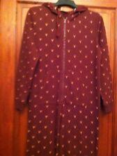Womens Nightwear S All In One Reindeer Print Hood GEORGE (B29)