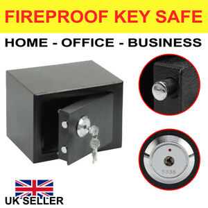 4.6L SOLID STEEL SAFE HEAVY DUTY FIREPROOF HOME OFFICE MONEY CASH VALUABLES BOX