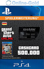 Grand Theft Auto V GTA 5: $500,000 Bull Shark Cash Card-Code ps4-DE VERSION