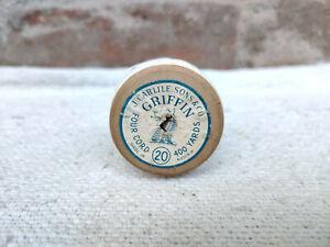 J Carlile Son & Co Griffin Four Cord 400 Yard Vintage Cotton Thread Austria 1920