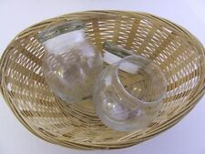 Empty Clear Glass Bean Pot - Candlemaking, Candle Jar**140g
