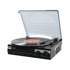 Jensen Record Player 3 Speed Stereo Turntable with Built In Speaker Vinyl To MP3