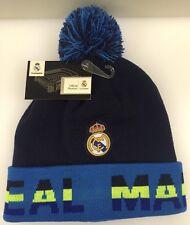 Real Madrid CF Winter Cap Hat Cuff Pom Blue Black Neon Green OSFM NWT New K1Y20