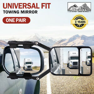 2x Towing Mirrors Clip Universal Multi Trailer Caravan Car Truck Vehicle 4WD