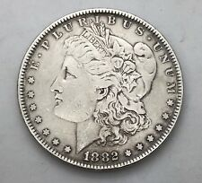 1882 US Morgan Silver Dollar Coin $1 One Dollar Circulated