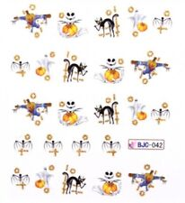 Accessoire ongles : nail art- Stickers Halloween : citrouille , chat , fantome