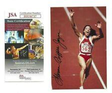 Florence Griffith-Joyner Autographed Postcard Photo JSA Track Olympic Athlete
