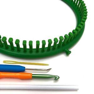 KnitUK Round Green Knitting Loom. 72 pegs Fitted (Medium Gauge Loom).