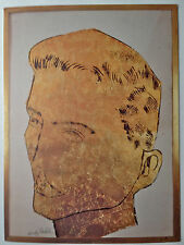 ANDY WARHOL DRAWINGS 3-fold exhibition announcement/invitation 1988, Rare & Mint
