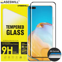 For Huawei Mate 40 Pro Plus Caseswill 3D Curved Tempered Glass Screen Protector