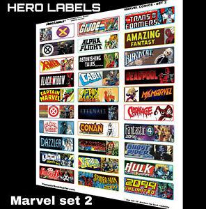 🔥HERO LABELS BRAND Comic Book Storage Box Divider Labels Marvel set 2