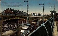~1910 Autozug Verladung Autos Bahnstrecke Herbesthal Cöln Aachen Brüssel Paris