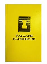 HARDCOVER CHESS SCORE-BOOK - YELLOW - 100 GAMES - MADE IN USA