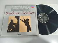 """Bruckner Mahler Mil Fragmentos Musica Clasica LP 12"""" Vinilo VG/VG"""